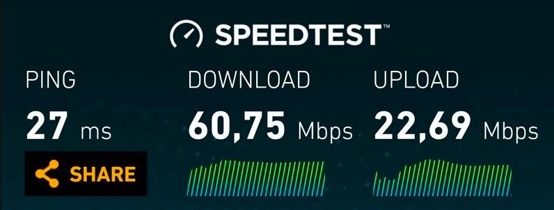 4.5G hız testi sonucu