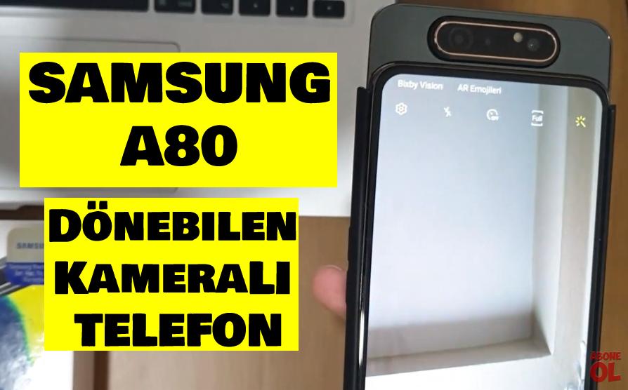 Samsung Galaxy A80 inceleme VİDEO