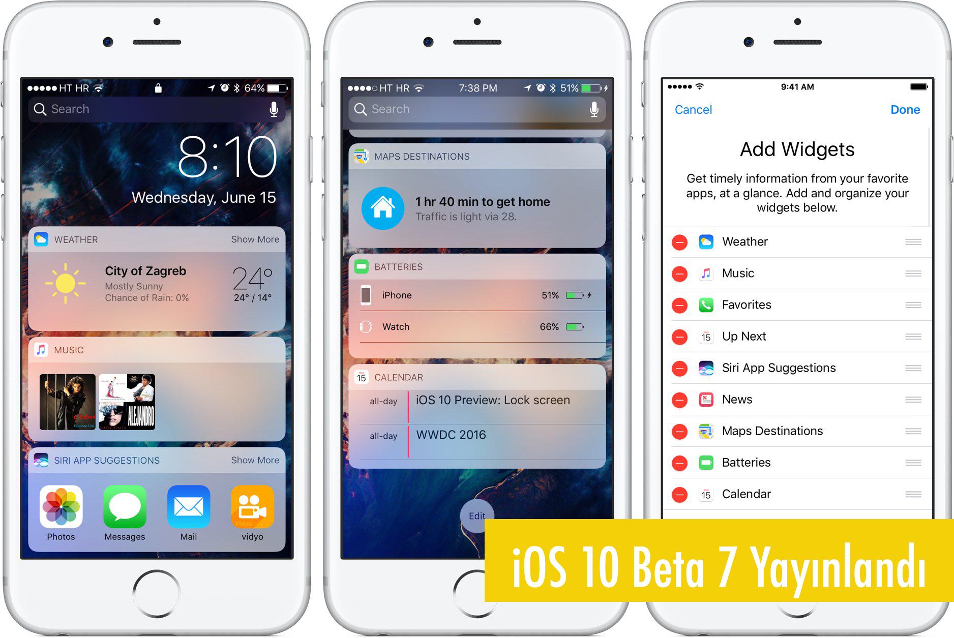 iOS 10 Beta 7 ve iOS 10 Public Beta 6 Güncellemesi Yayınlandı