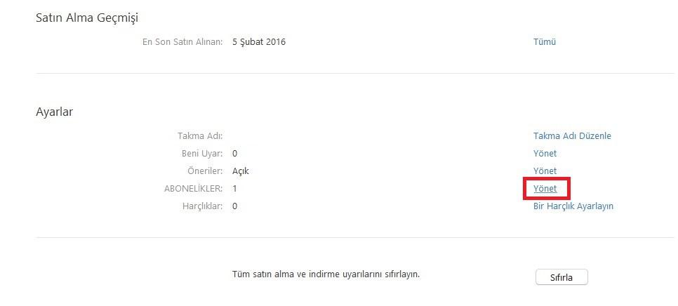 Apple music uyelik iptal