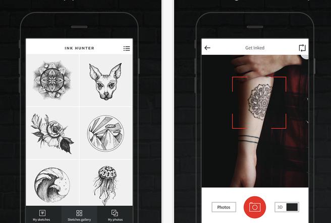 iPhone dövme uygulamasi