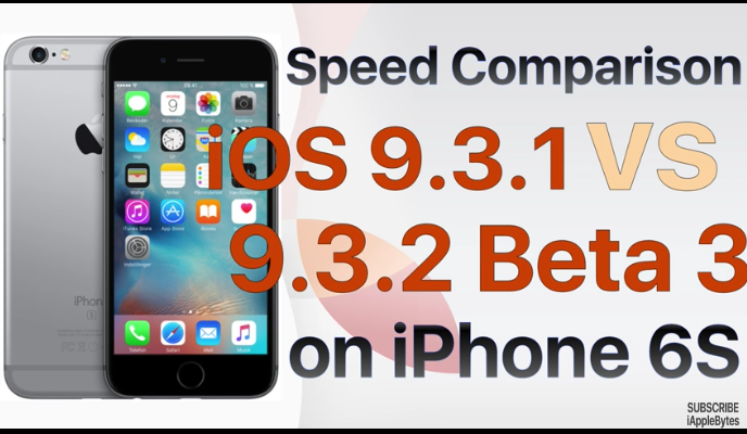 iOS 9.3.1 ile iOS 9.3.2 Beta 3 Hız Karşılaştırması