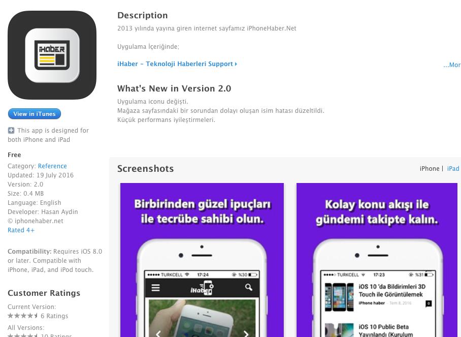 iPhonehaber Uygulaması Artık App Store'da