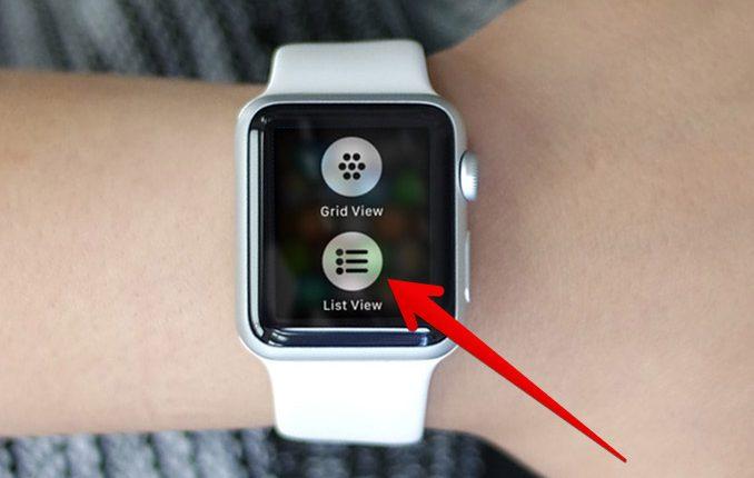 Apple Watch Ana Ekranını Liste Görünümü yapmak