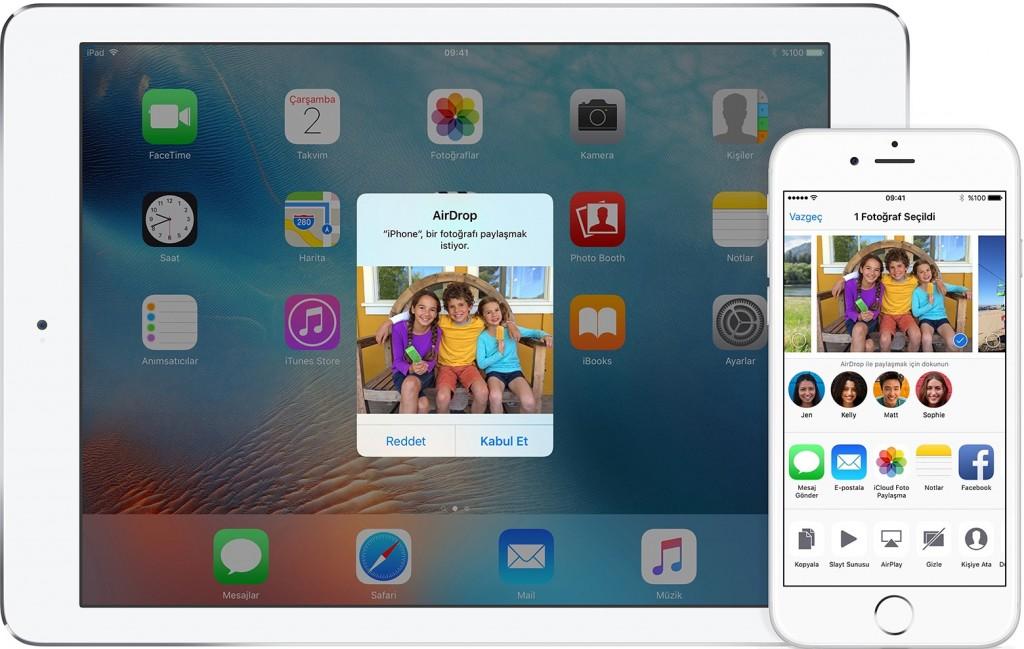 AirDrop ile iPhone ve Diğer Cihazlara Dosya Gönderin