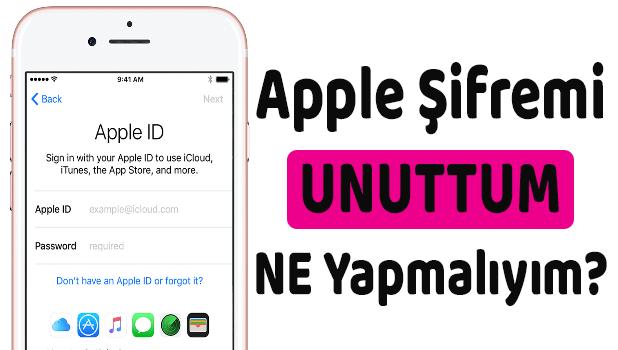 Apple Kimliğimi/Apple Şifremi Unuttum, Ne Yapmalıyım?