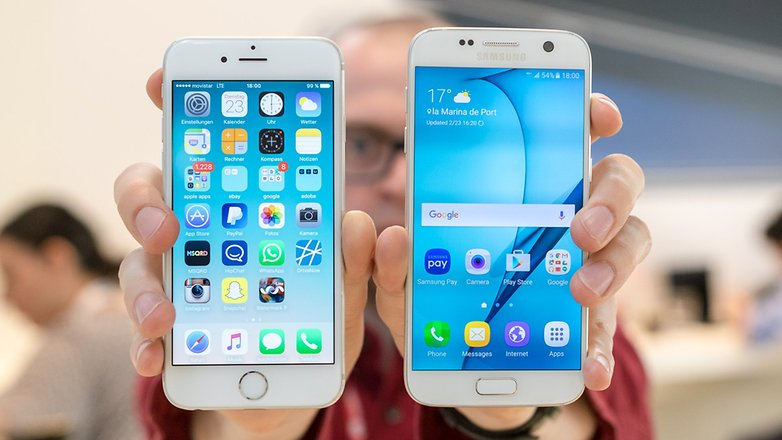 galaxys 7 ve iPhone 6s