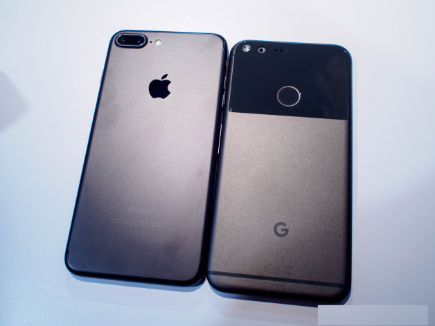 google-pixel-ve-iphone-7