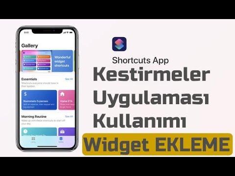 iOS 12 Kestirmeler uygulaması ile kısayol ekleme