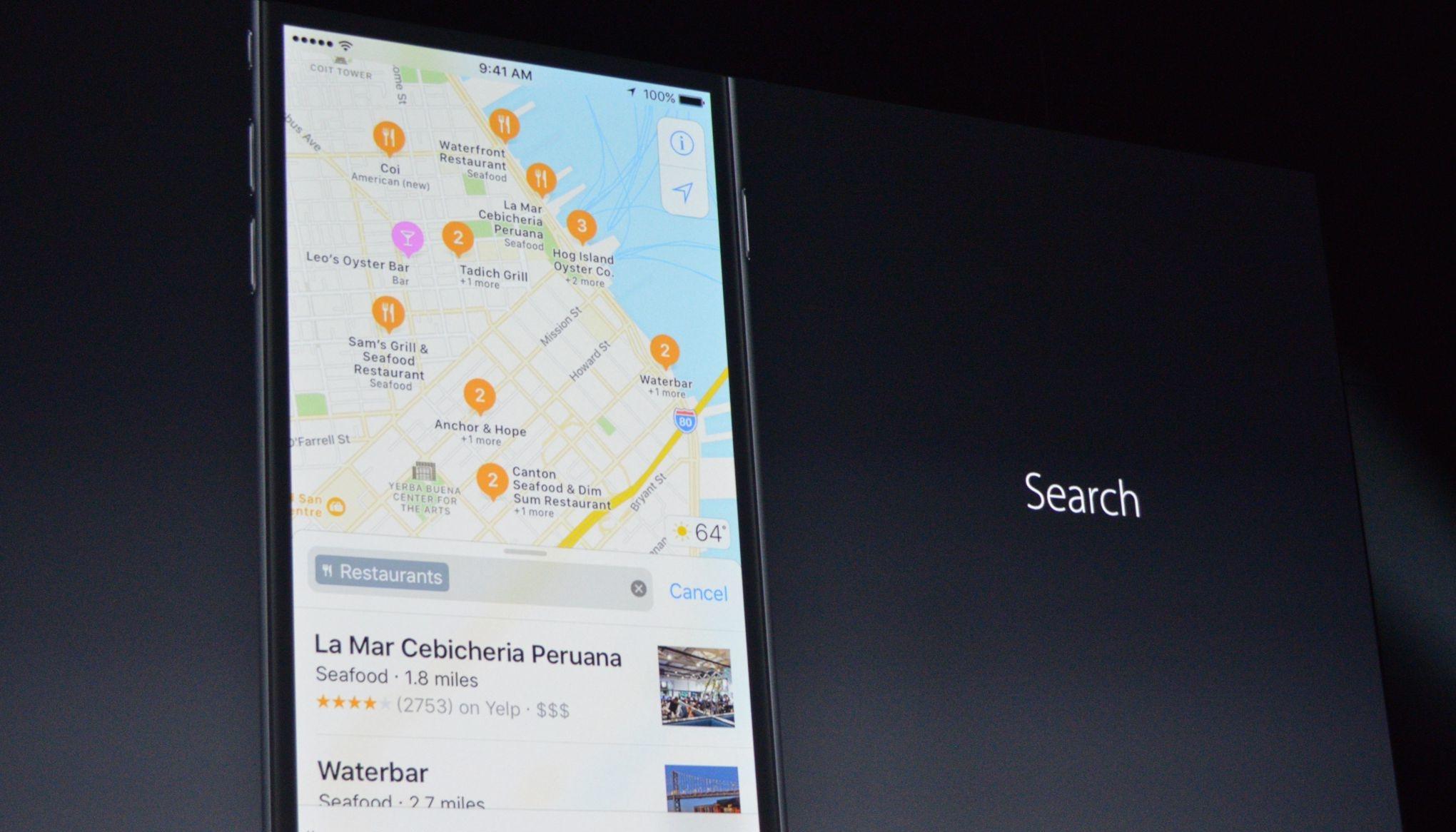 iOS 10 harita