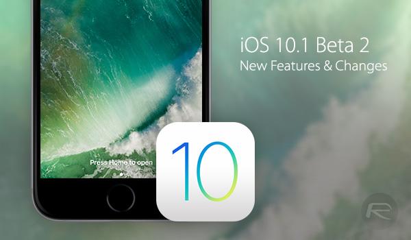iOS 10.1 Beta 2 ile gelen Yenilikler