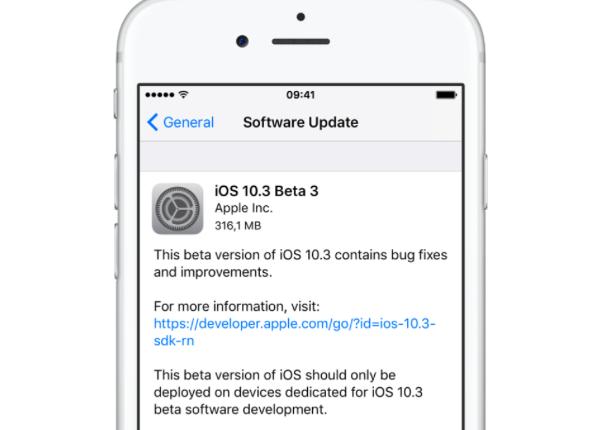 iOS 10.3 Beta 3 Günellemesi Yayınlandı