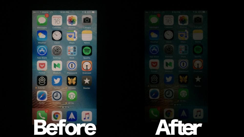 iOS Ekran parlaklıgını kısma
