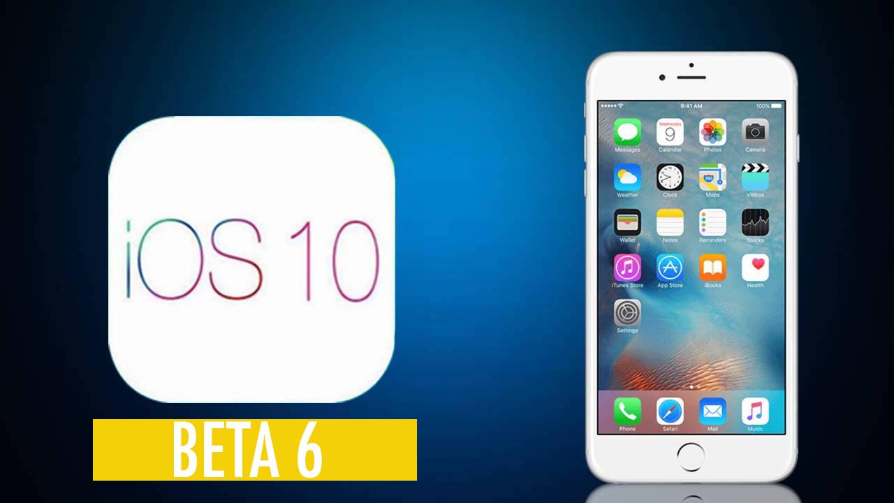 iOS 10 beta 6 Yayınlandı
