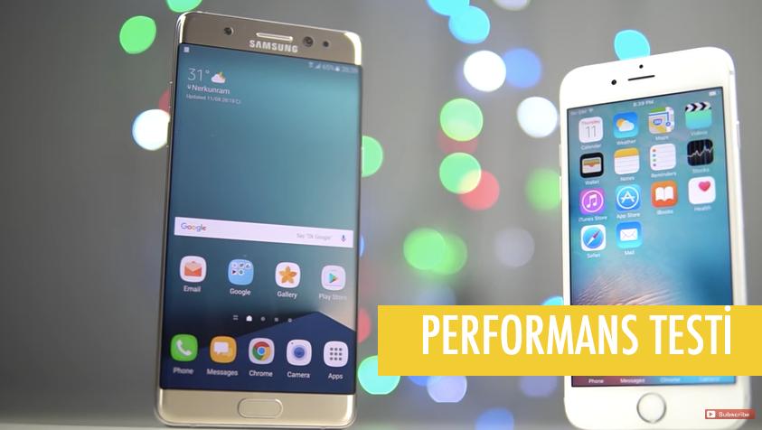 iPhone 6s Plus ile Galaxy Note 7 Karşılaştırması VİDEO