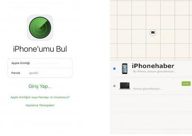 iPhonenu bul