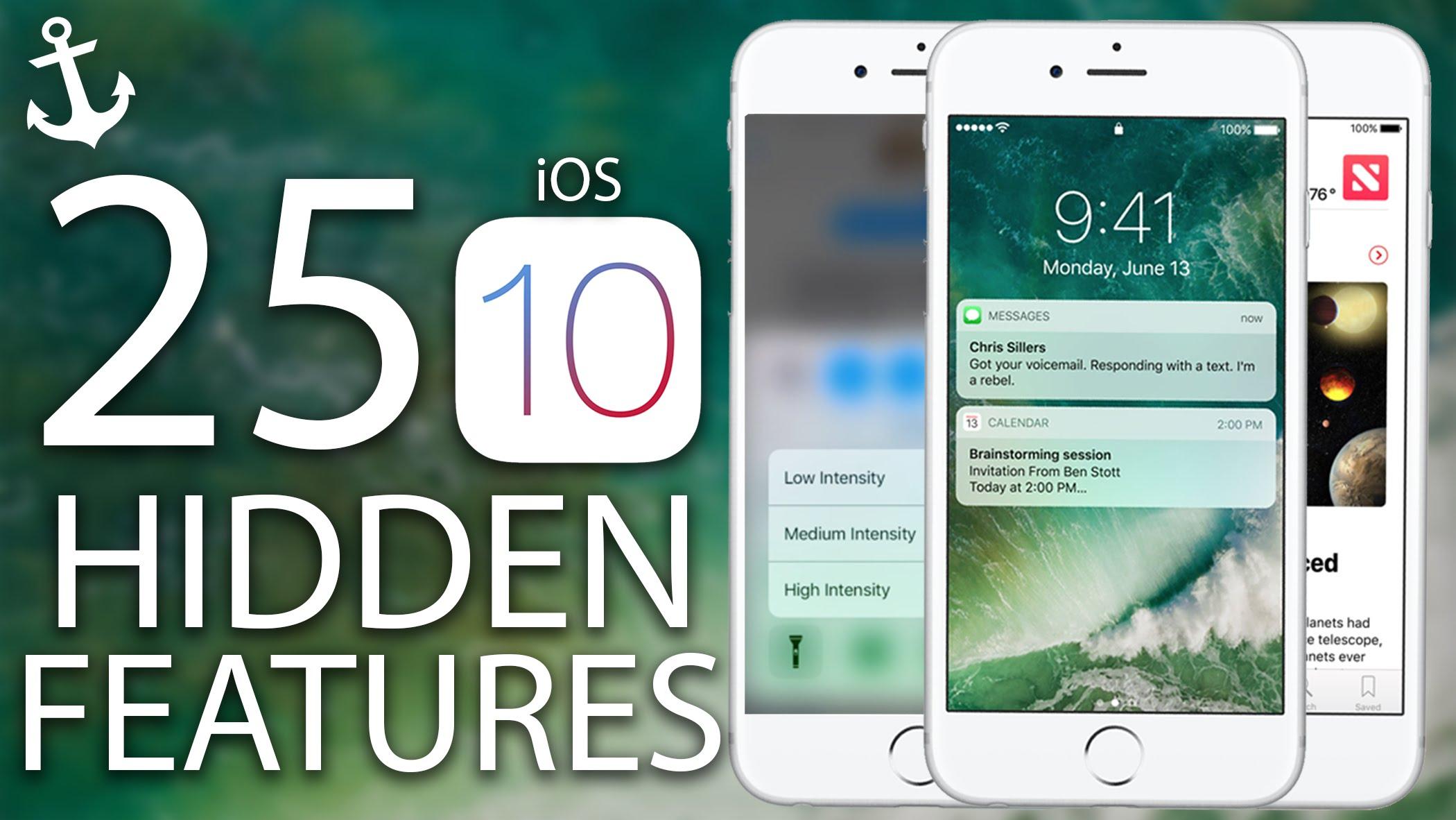 iOS 10 ile Gelecek olan Gizli özellikler