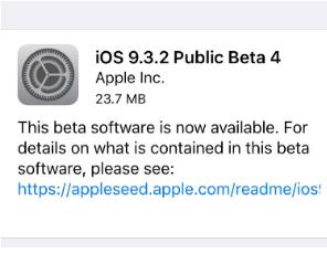 ios 9.3.2 beta 4 indir