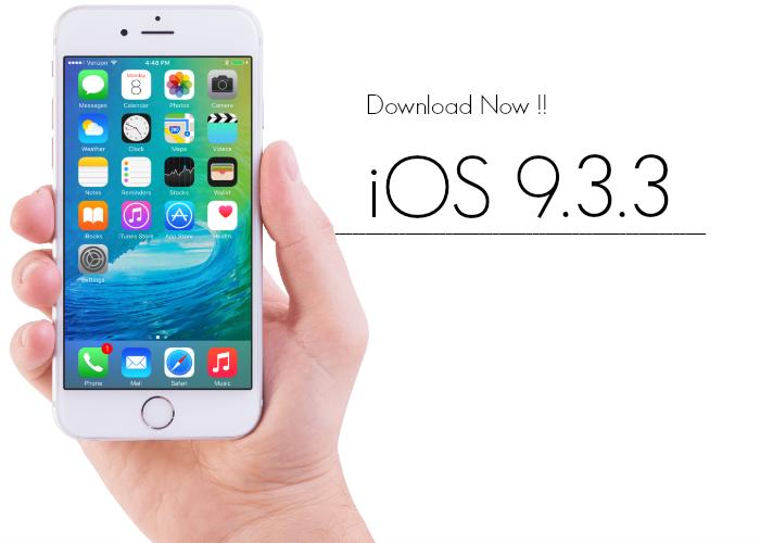 iOS 9.3.3 Yayınlandı