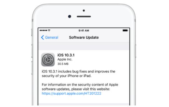Apple iOS 10.3.1 Güncellemesini Yayınlandı!
