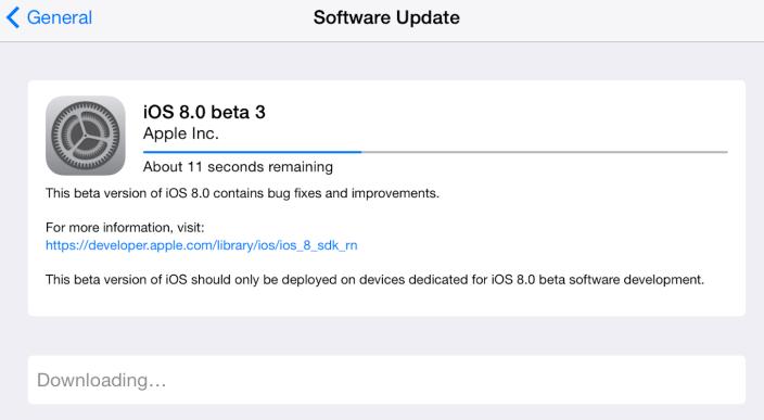 iOS 8 Beta 3 Yayınlandı!