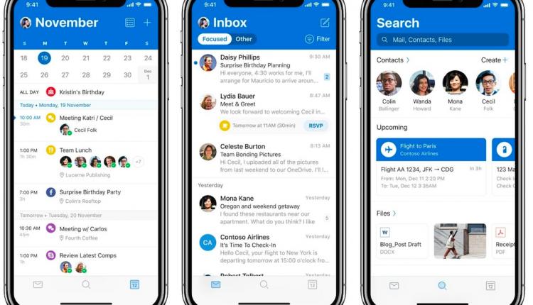 iOS için Microsoft Outlook Uygulamasına Tasarım Güncellemesi