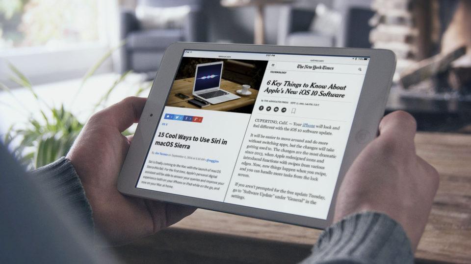 iPad Safari'de yan yana web sayfası açma Yöntemi