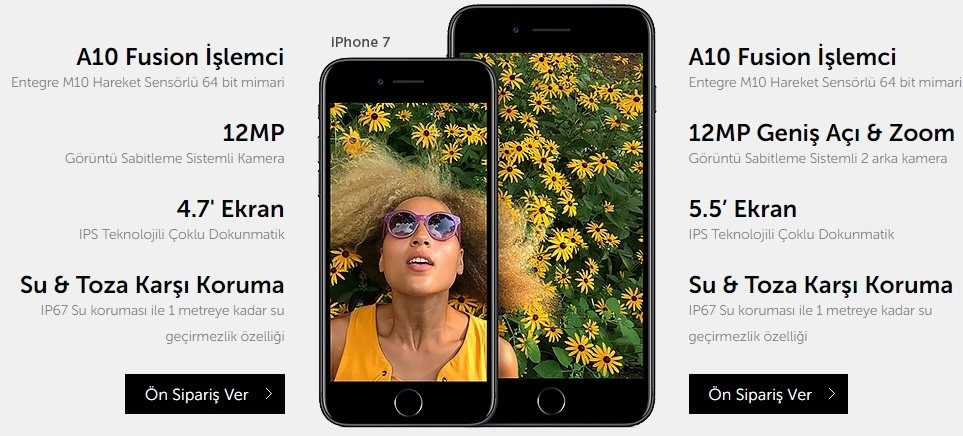 iPhone 7 ve 7 Plus 28 Ülkede Ön Siparişe Sunuldu