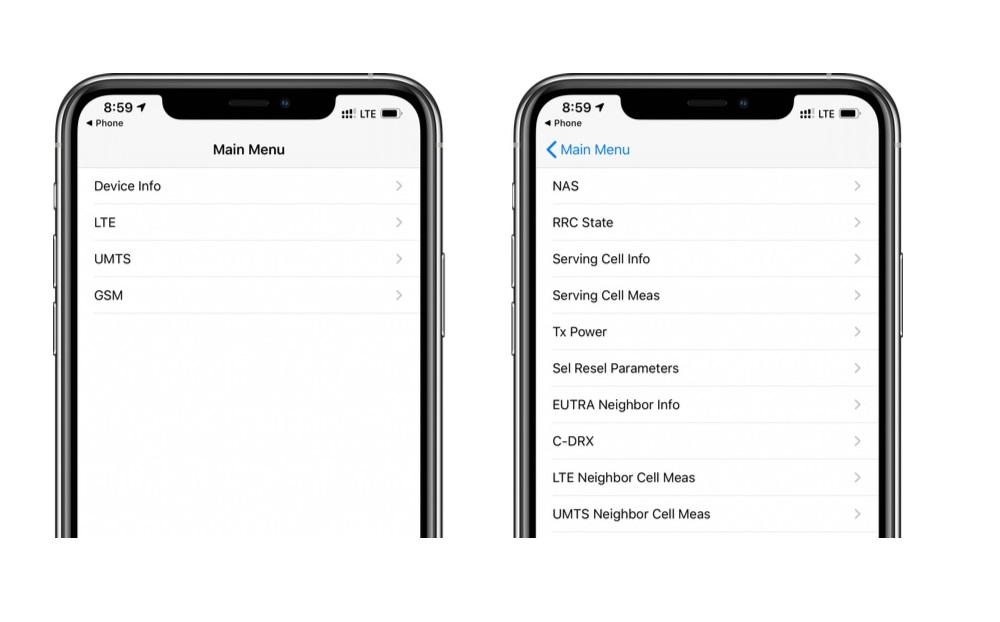 iOS 13'te Field Test Ekranı Menüsüne Nasıl girilir?