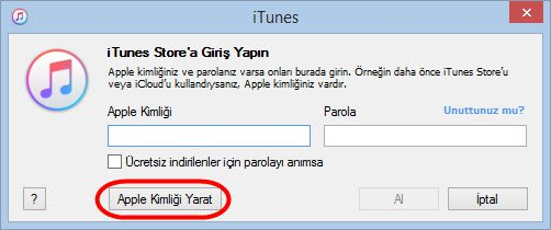 iphone itunes baska ülke