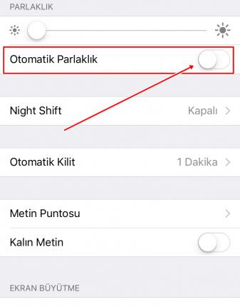 iphone-otomatik-parlaklıkkk
