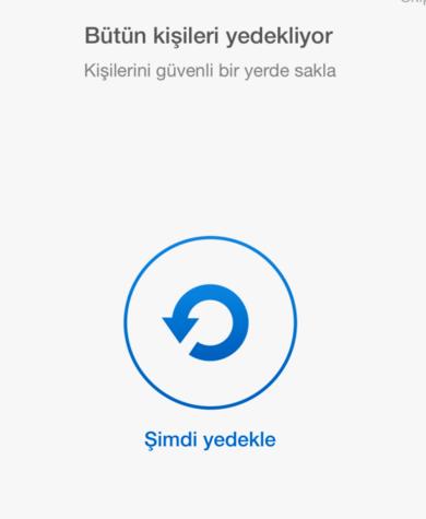 iphone rehber yedekle