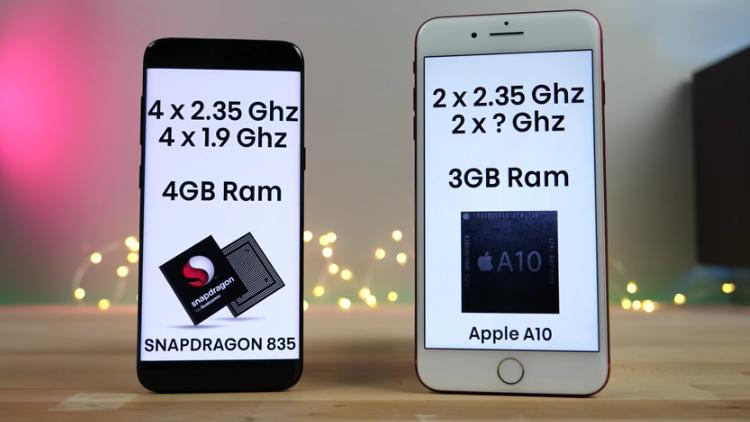iPhone 7 plus ve Galaxy S8 Hız Testi karşılaştırması