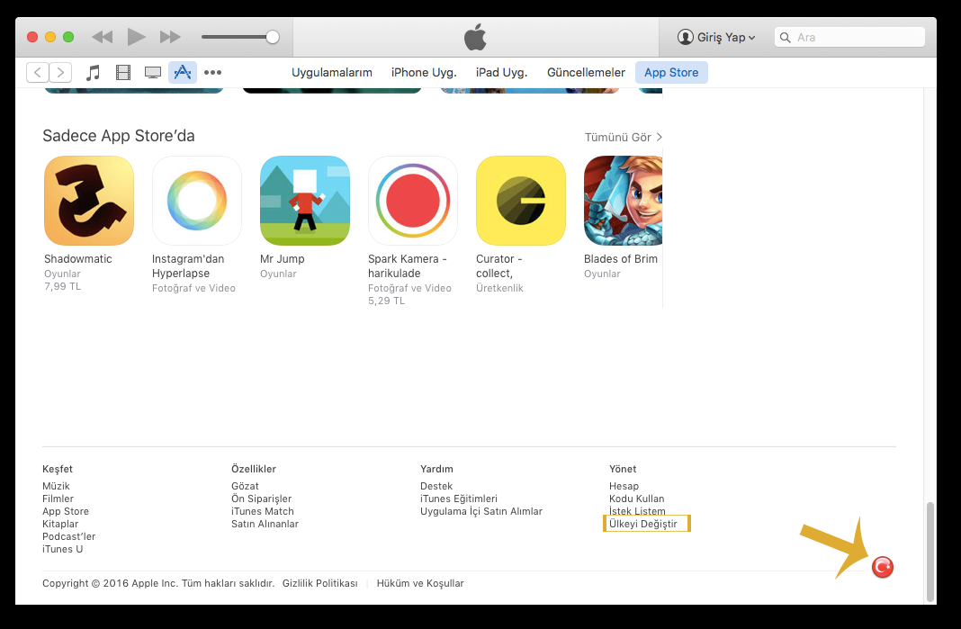 iPhone Bölge Kısıtlaması Olan Oyun ve Uygulamaları indirme