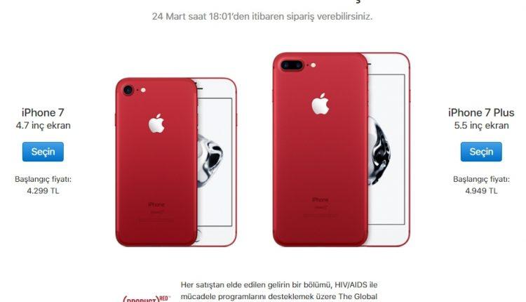 Apple Kırmızı iPhone 7 ve iPhone 7 Plus tanıttı!