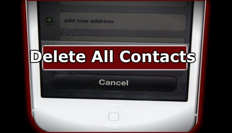 iPhone Rehberden Toplu Kişi Silme (Kolay Silme)