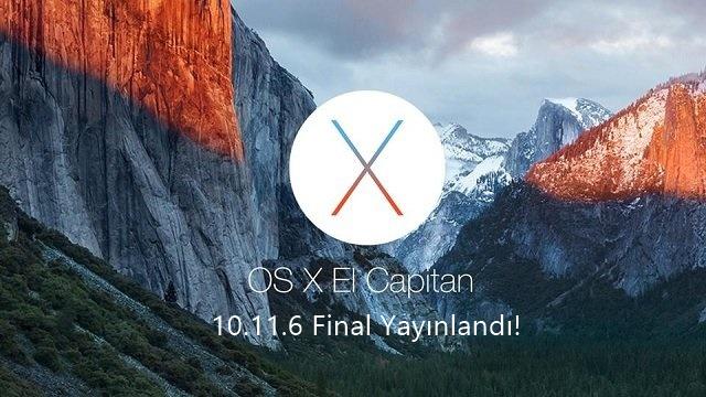 OS X El Capitan 10.11.6 Final Yayınlandı!