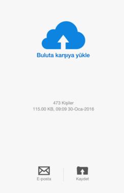 rehber yedekleme iPhone