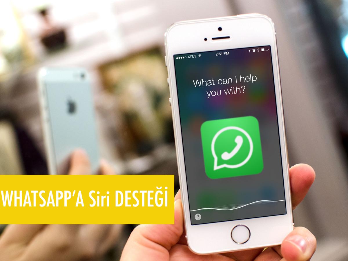 Whatsapp Uygulamasına Siri desteği yolda!