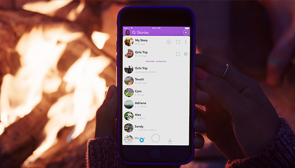 Snapchat yeni hikaye modunu gösterdi!