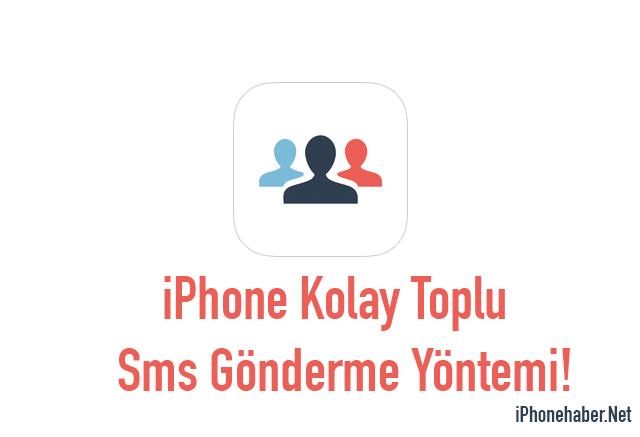 iPhone Toplu Sms Gönderme Uygulaması