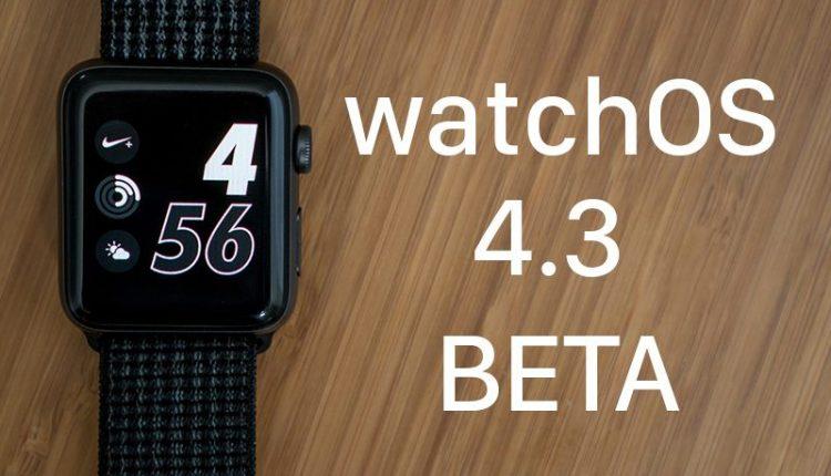 Apple watchOS 4.3 Beta 1 Güncellemesi ile gelen speaker özelliği